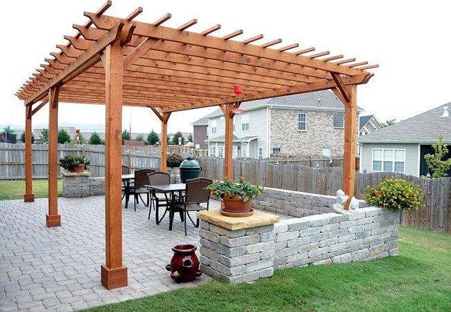 The Traditional Wooden Garden Pergola