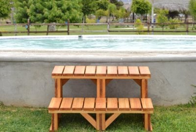 Wooden Spa Step