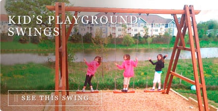 Kid's Playground Swings