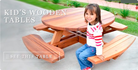 Kid's Wooden Tables