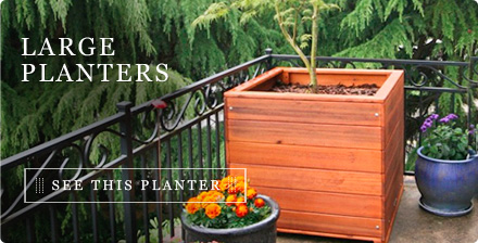 Large Wooden Planters Forever Redwood