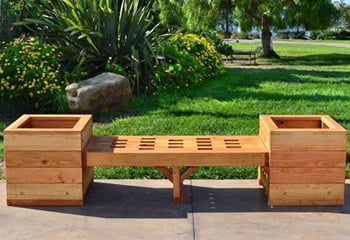 Wooden Planter Boxes Handcrafted From Redwood Free Shipping