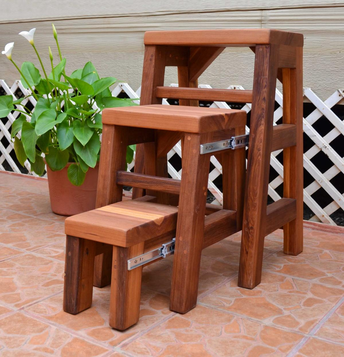 how to build a 3 step stool