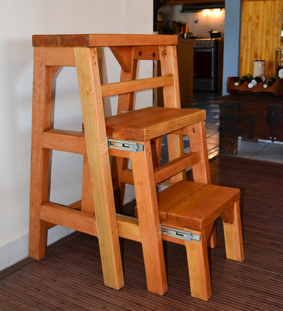 Miraculous 3 Step Wood Stool Pabps2019 Chair Design Images Pabps2019Com