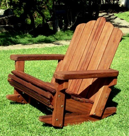 Groovy Redwood Adirondack Rocking Chair Durable Wooden Rocker Squirreltailoven Fun Painted Chair Ideas Images Squirreltailovenorg