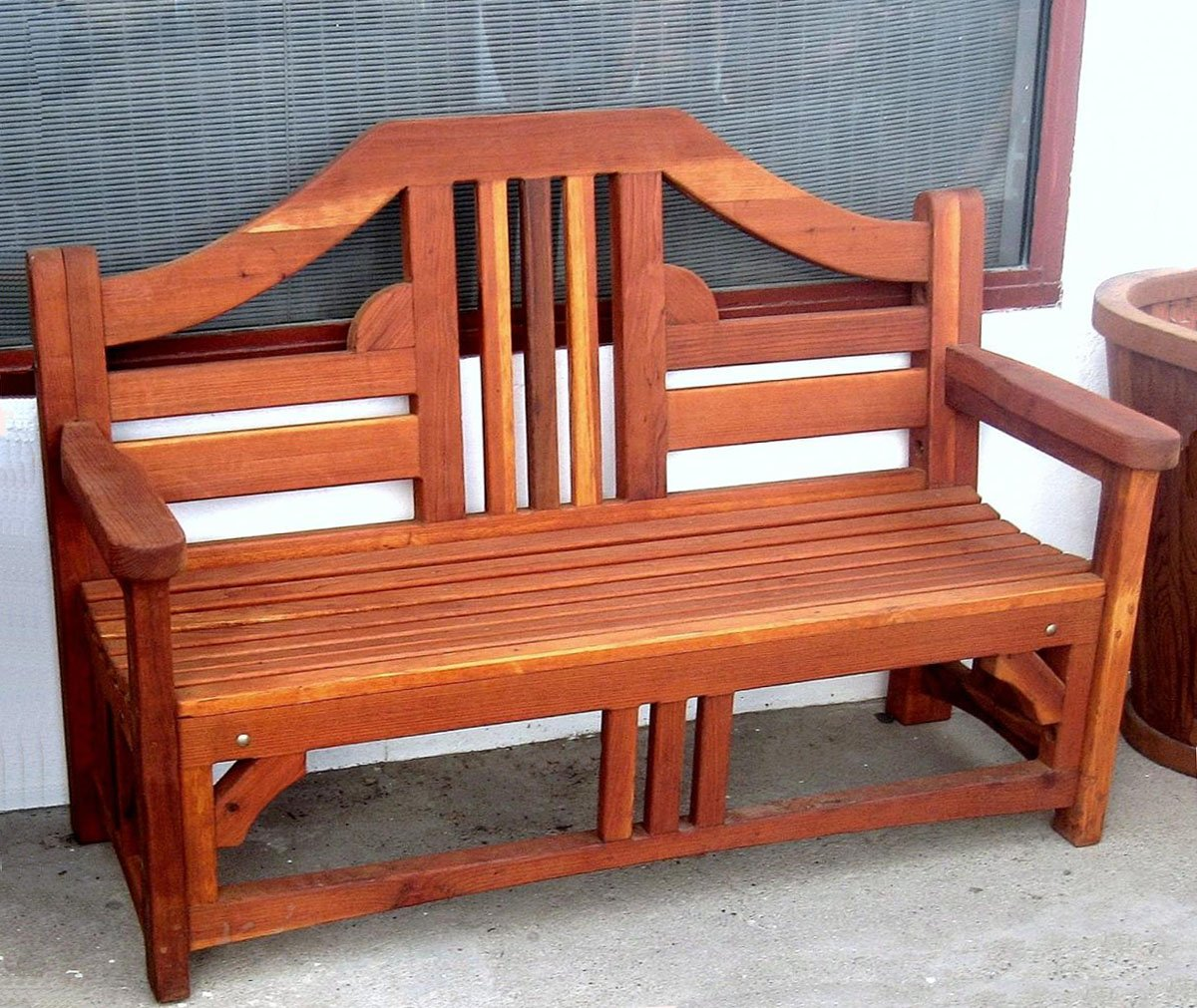 Alan S Bench Options 5 Ft Redwood No Cushion Engraving