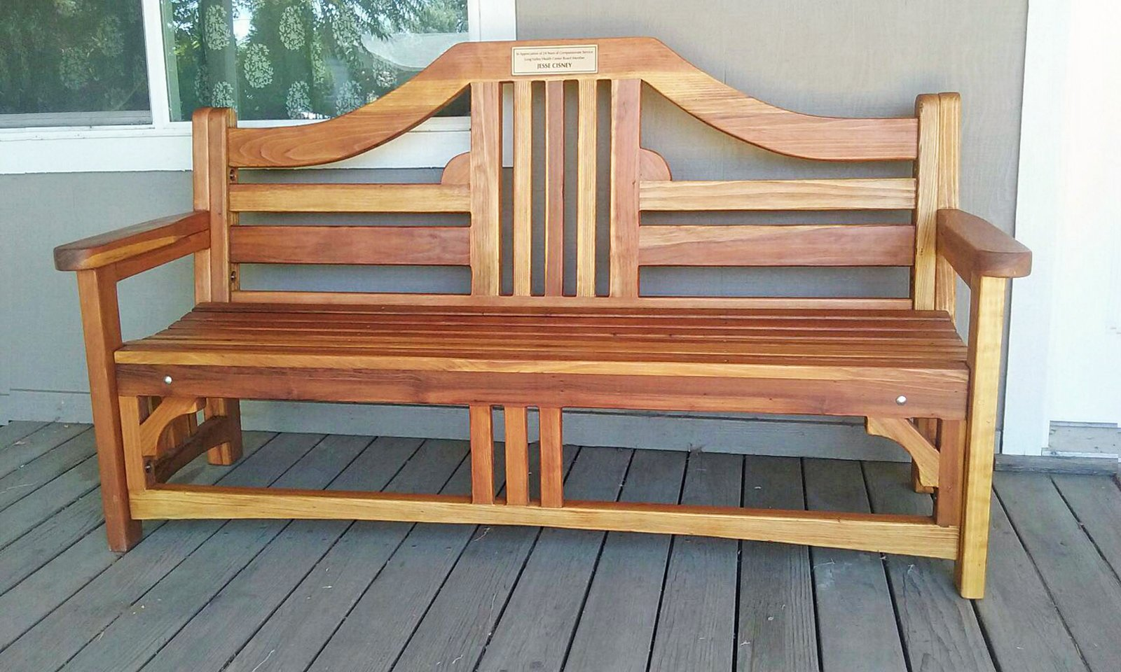 Alan S Bench Options 6 Ft Redwood No Cushion Engraving