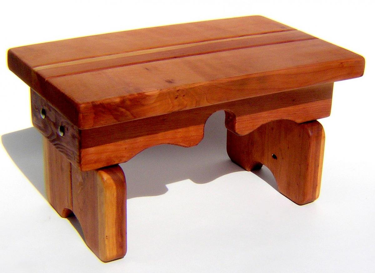 Natural Redwood Side Table Sturdy Indoor Outdoor Table - Redwood side table
