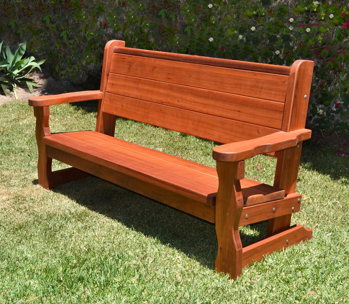 Rustic Wood Bench With Back For Garden Seating Forever