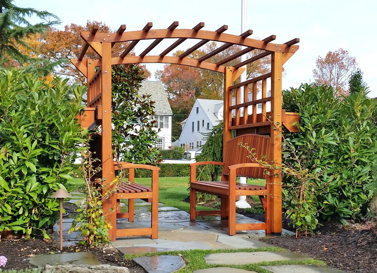 Arched Garden Arbor Forever Redwood