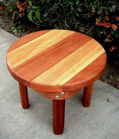 Ashley S Round Small Wood Side Table