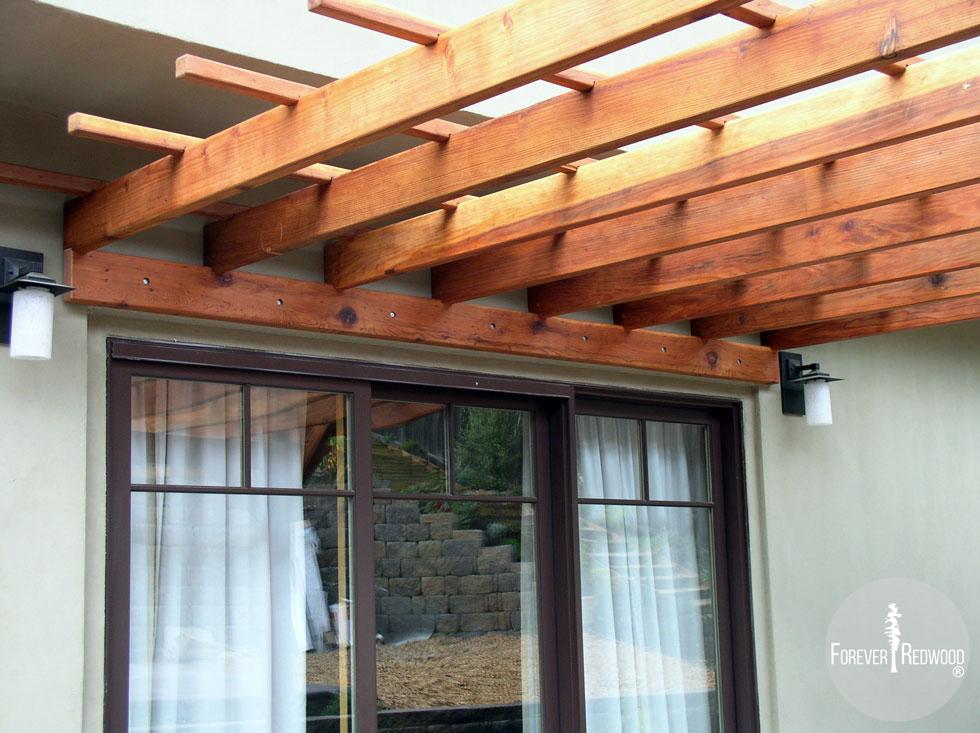 Pergola Kits Attached to House: Attached Garden Pergolas