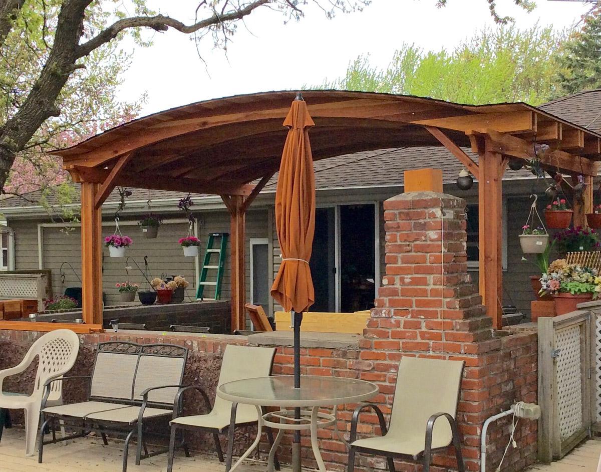 Backyard Pavilion Kits Custom Redwood Pavilion For Sale