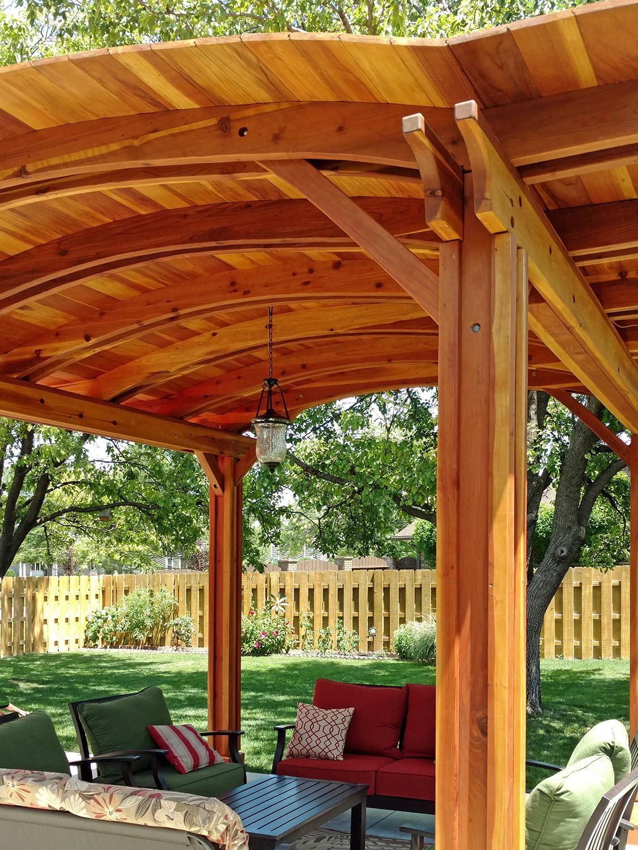 Backyard Pavillion backyard pavilion kits: custom redwood pavilion for sale