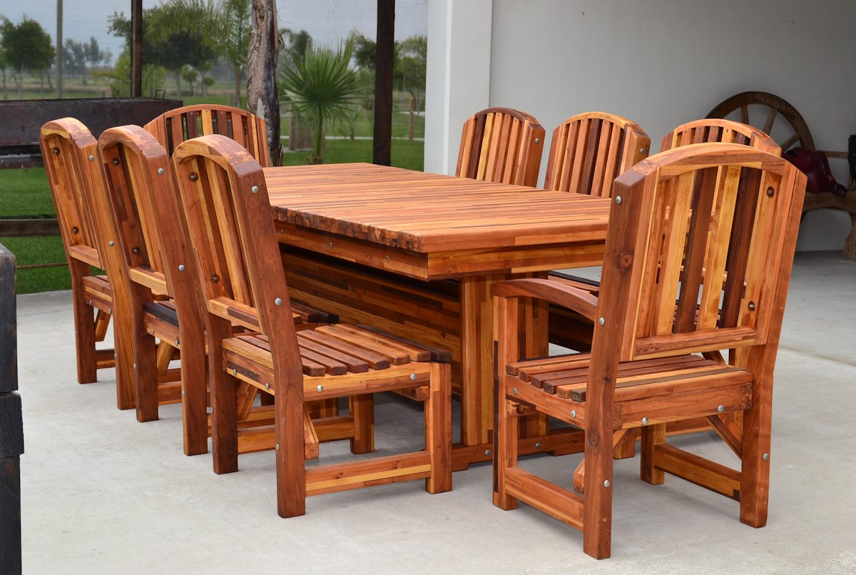 outdoor redwood dining table custom made to order tables. Black Bedroom Furniture Sets. Home Design Ideas