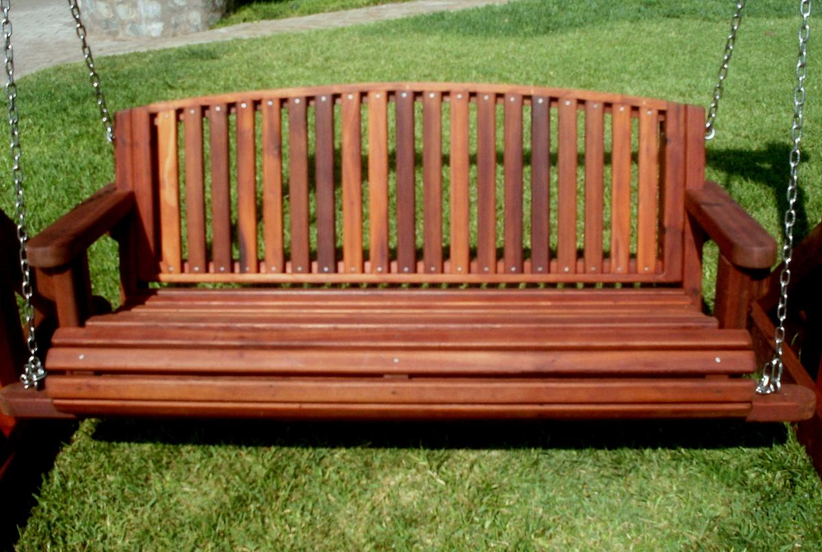 Genial Bench Swing (Options: Large Garden Bench, Old Growth Redwood, Luna Seat ...
