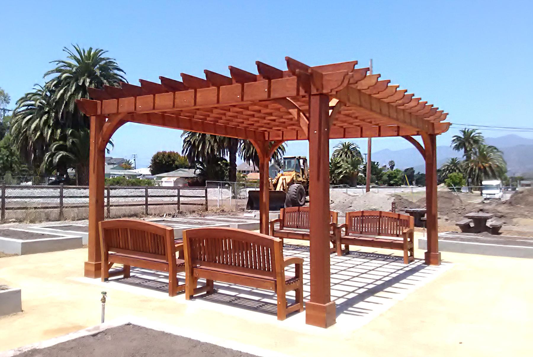 Cherry Hill Pergola Options 16 X 20 Redwood Post