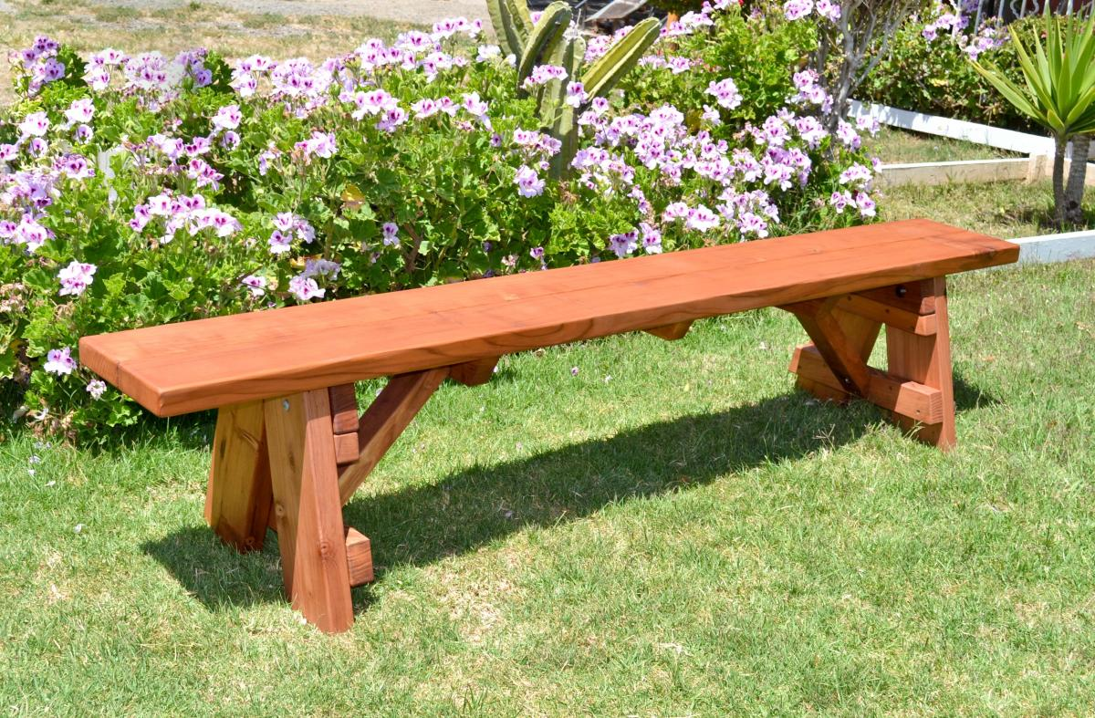 Tremendous Classic Wooden Picnic Bench Forever Redwood Ibusinesslaw Wood Chair Design Ideas Ibusinesslaworg
