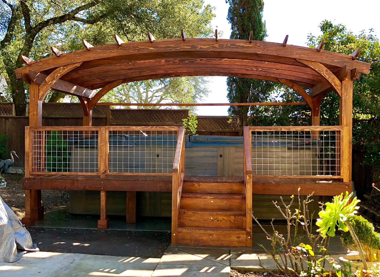 Custom Wooden Pergola Redwood Pergola Kits All Sizes Amp Shapes