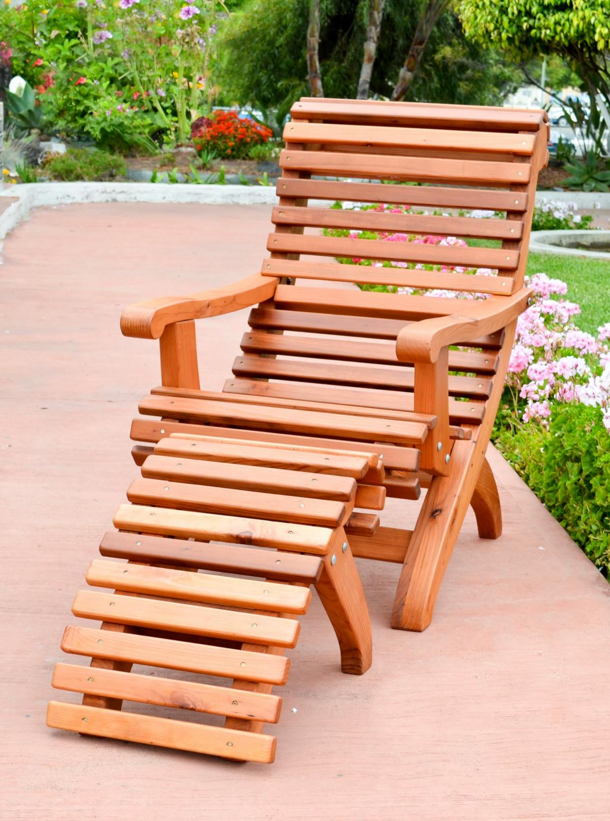Ensenada Wood Easy Chair Comfortable Outdoor Garden Chair