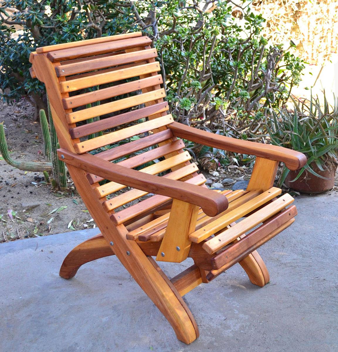 Ensenada Wood Easy Chair, Comfortable Outdoor Garden Chair