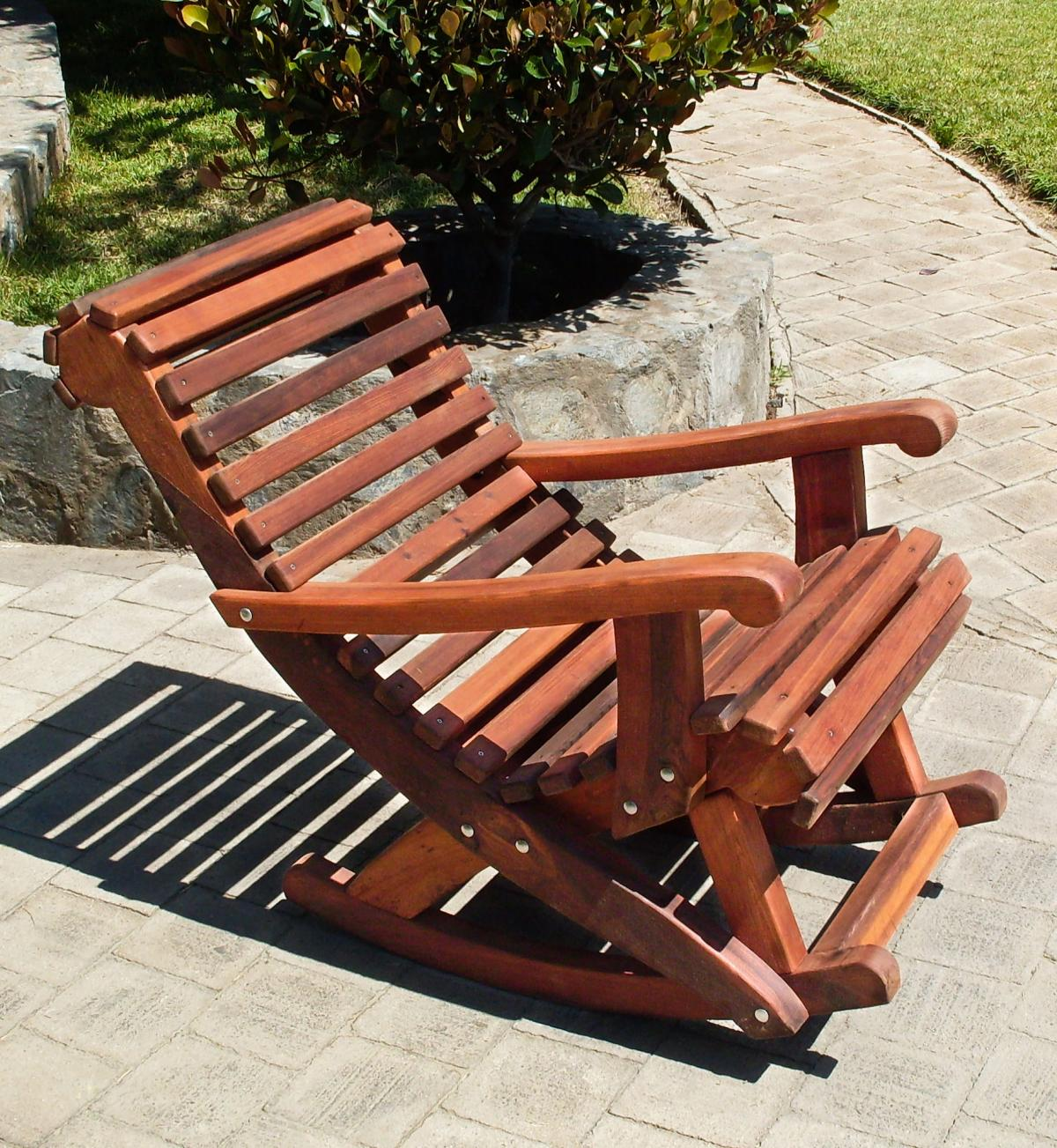 ... Ensenada Highback Rocking Chair (Options: Standard Width, Old Growth  Redwood, No ...