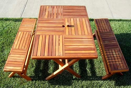 Pleasant Folding Outdoor Wood Bench Portable With Spinning Wood Locks Machost Co Dining Chair Design Ideas Machostcouk