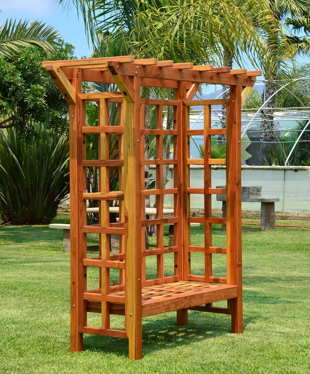 Garden Arbor Bench | Forever Redwood