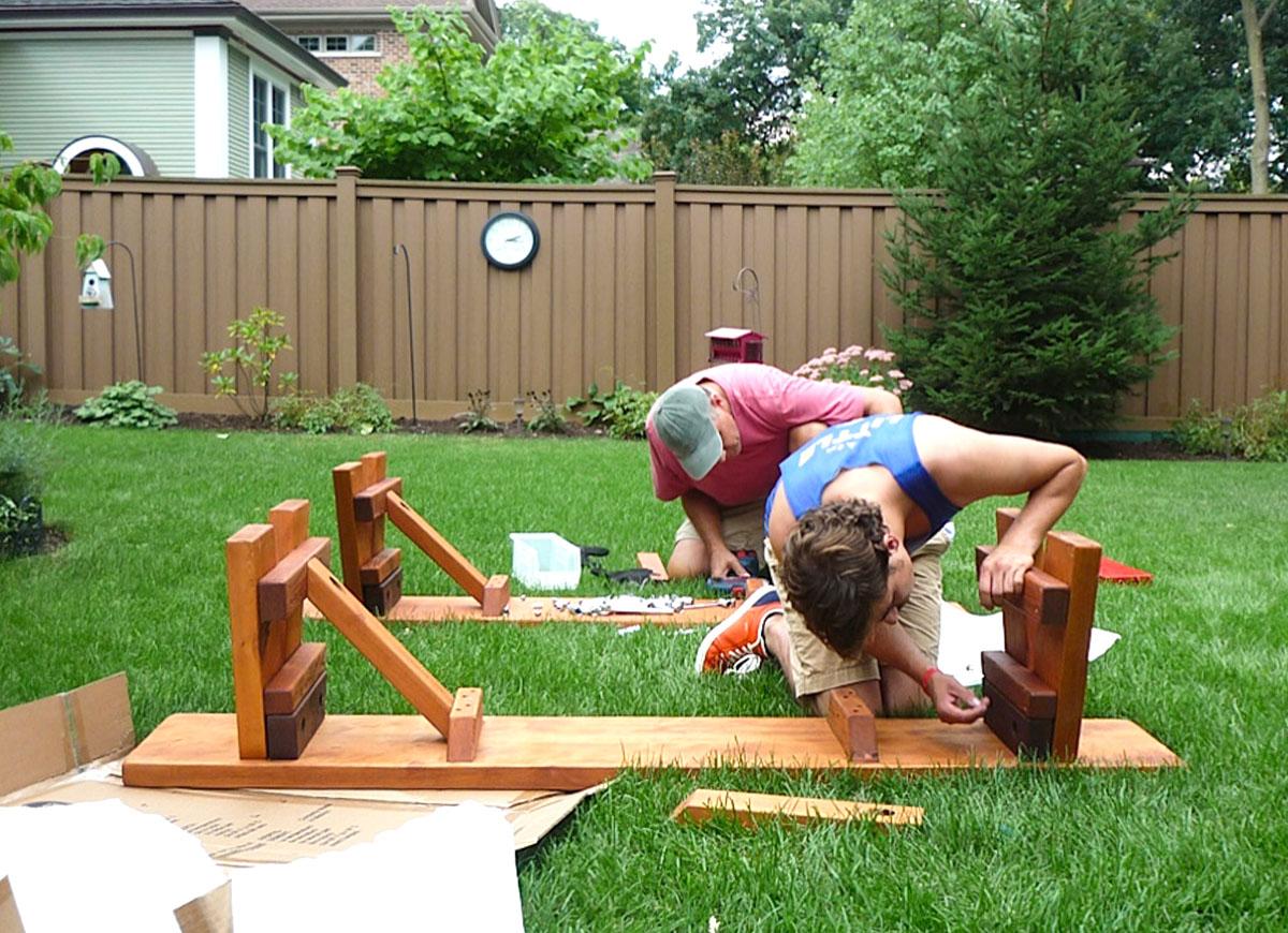 Large Wooden Picnic Table Custom Wood Picnic Table Kit - 12 person picnic table