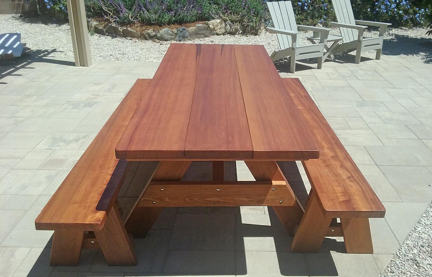 Large Wooden Picnic Table Custom Wood Picnic Table Kit - Large wooden picnic table
