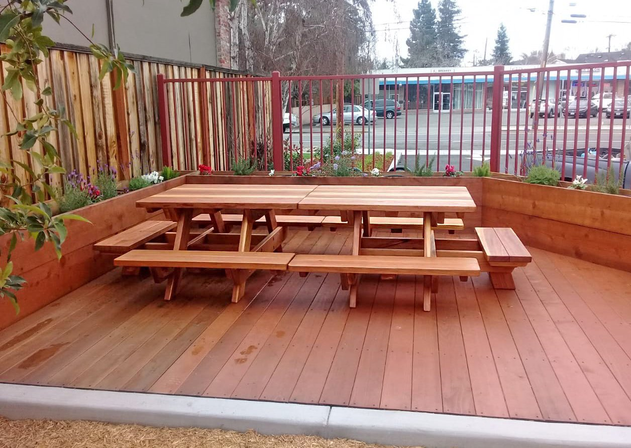 Kid Size Wood Picnic Table with Attached Benches | Forever ...