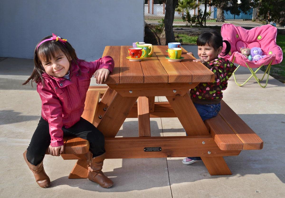 Kid S Picnic Table Options Redwood No Umbrella Standard Top Transpa Premium