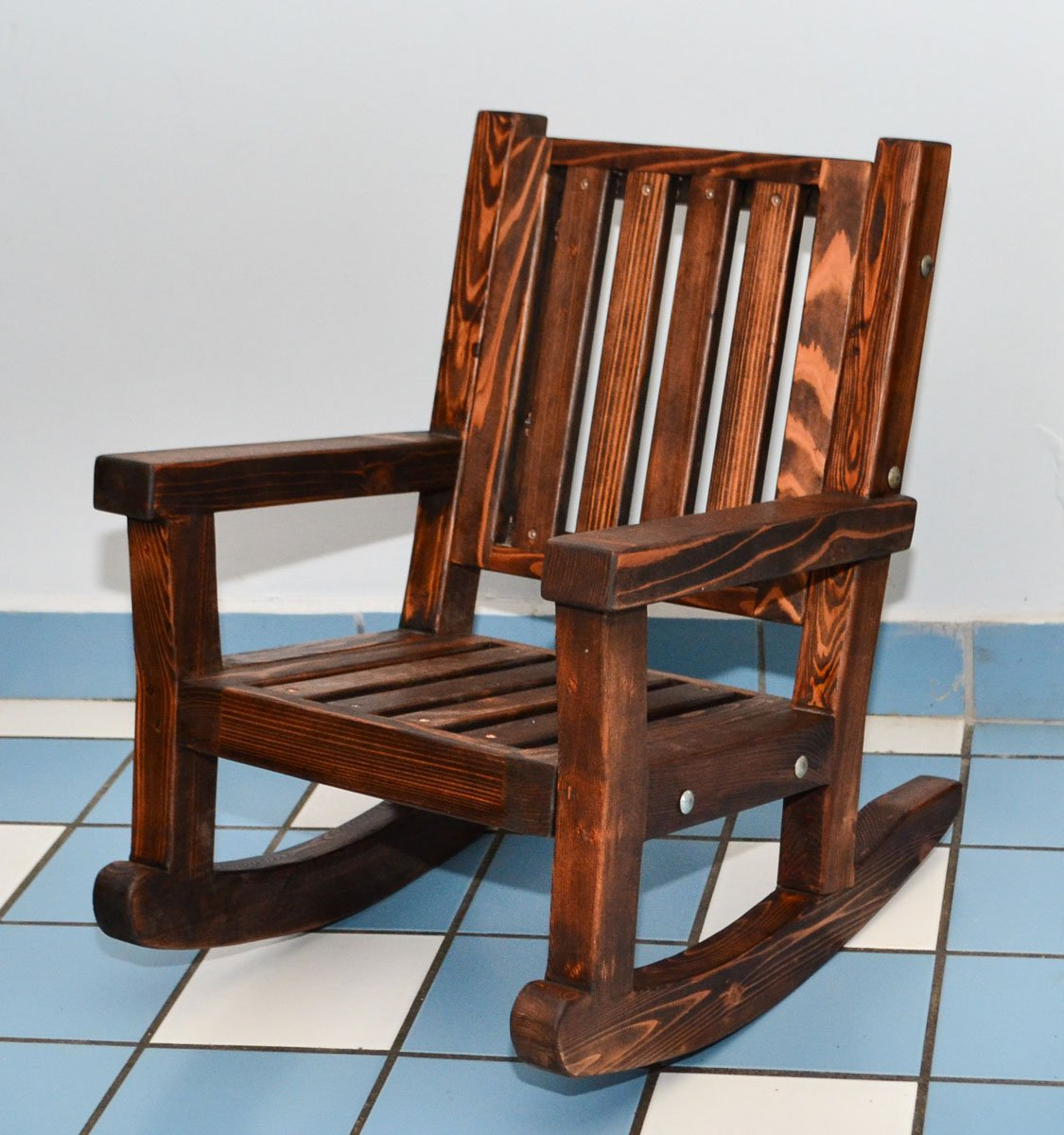 Kids Wooden Rocking Chair Sturdy Redwood Kids Chair