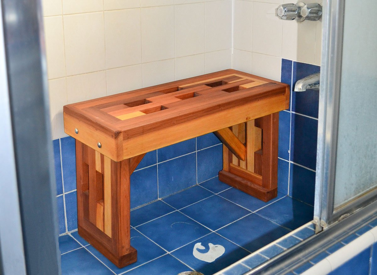 Lighthouse Shower Bench, Outdoor Benches for Shower