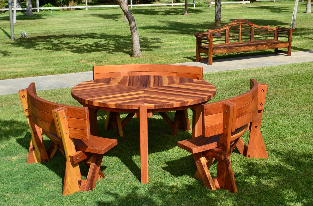 Retro Outdoor Patio Table 1950s Style Wood Table Amp Chairs