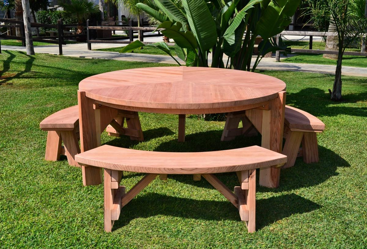 Retro Outdoor Patio Table 1950s Style Wood Table Chairs