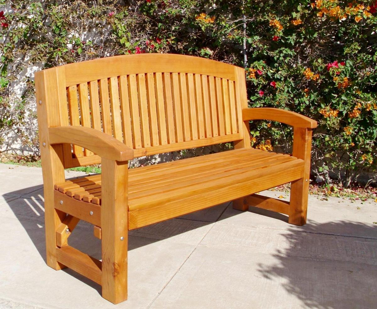 Luna wood memorial bench