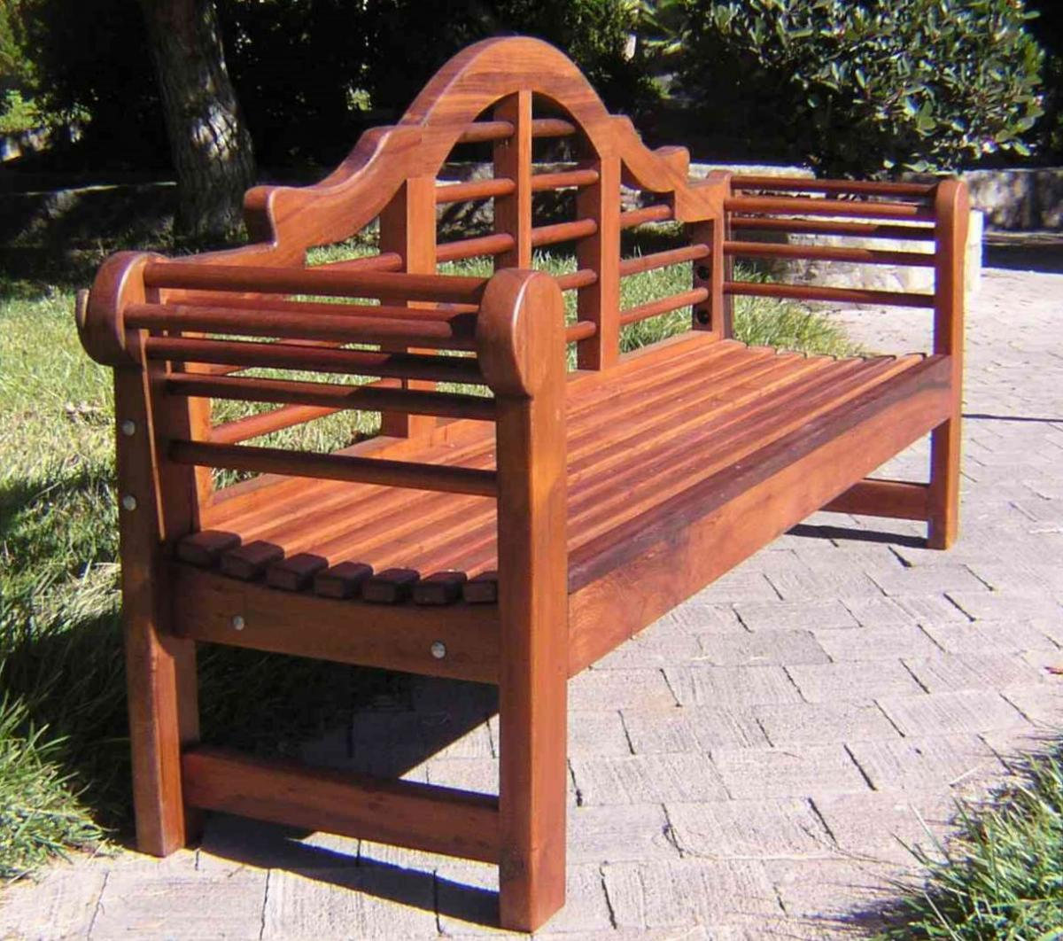 Lutyens Bench Options 6 Ft Old Growth Redwood No Cushion
