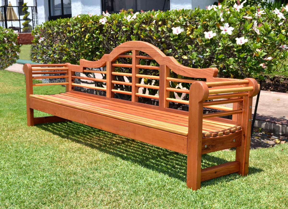 Lutyens Bench Options 8 Ft Redwood No Cushion Engraving