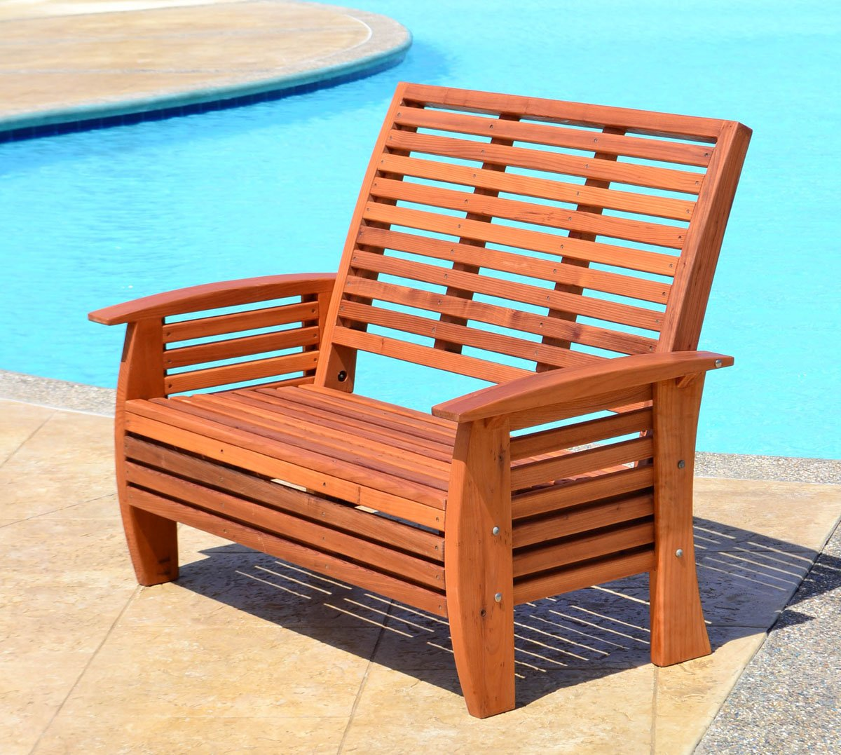 marazul wood outdoor loveseat