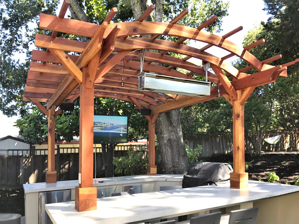 [CSDW_4250]   Outdoor Kitchen Pergola: Custom Redwood Kitchen Pergola Kit | Outdoor Kitchen Electrical Wiring Diagram |  | Forever Redwood