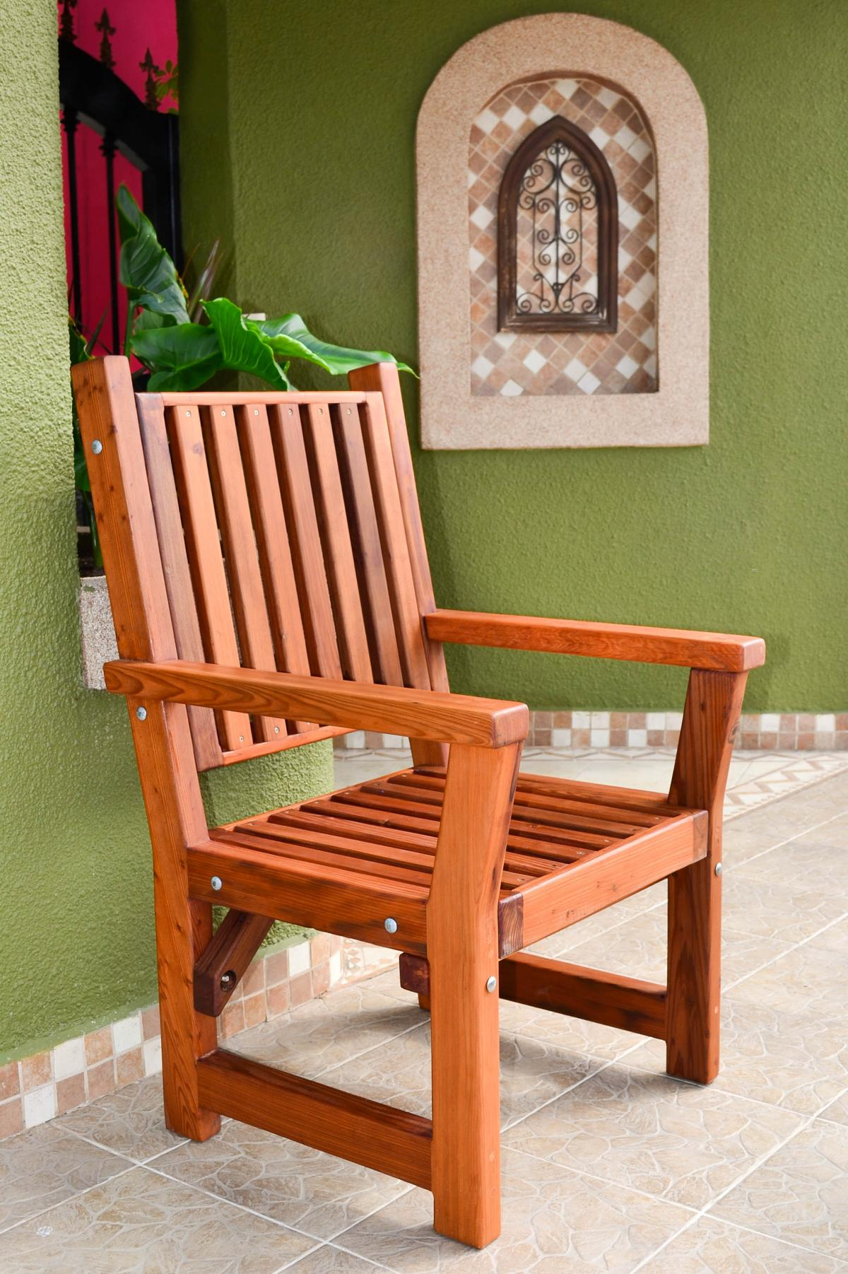 Massive Wooden Dining Chair Custom Made From Redwood
