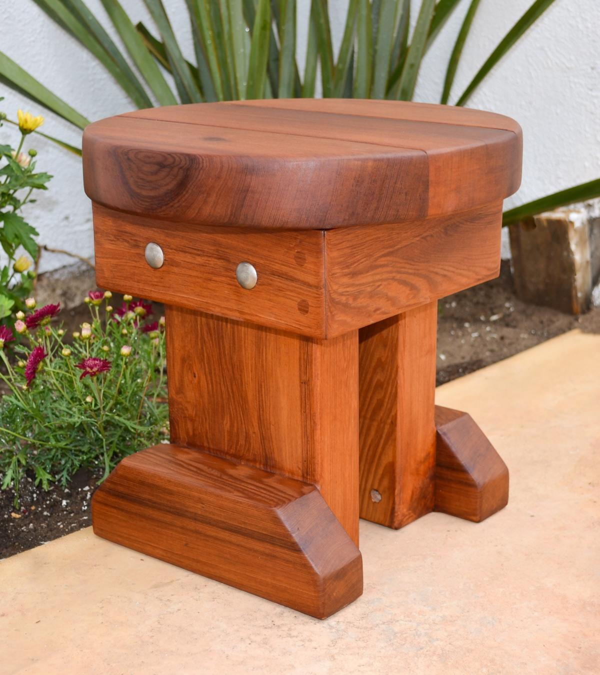 12 inch small round wood side table redwood side tables. Black Bedroom Furniture Sets. Home Design Ideas