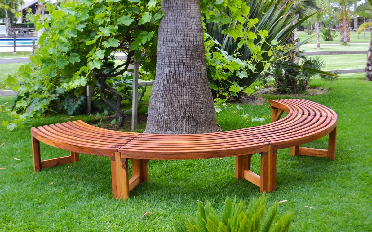 Cool Miramar Half Circle Tree Bench Gmtry Best Dining Table And Chair Ideas Images Gmtryco