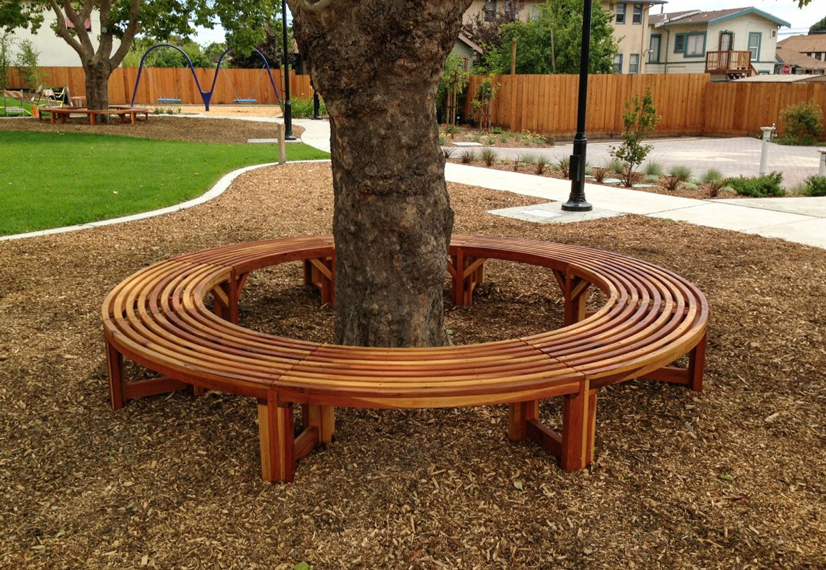 Awesome Miramar Half Circle Tree Bench Cjindustries Chair Design For Home Cjindustriesco