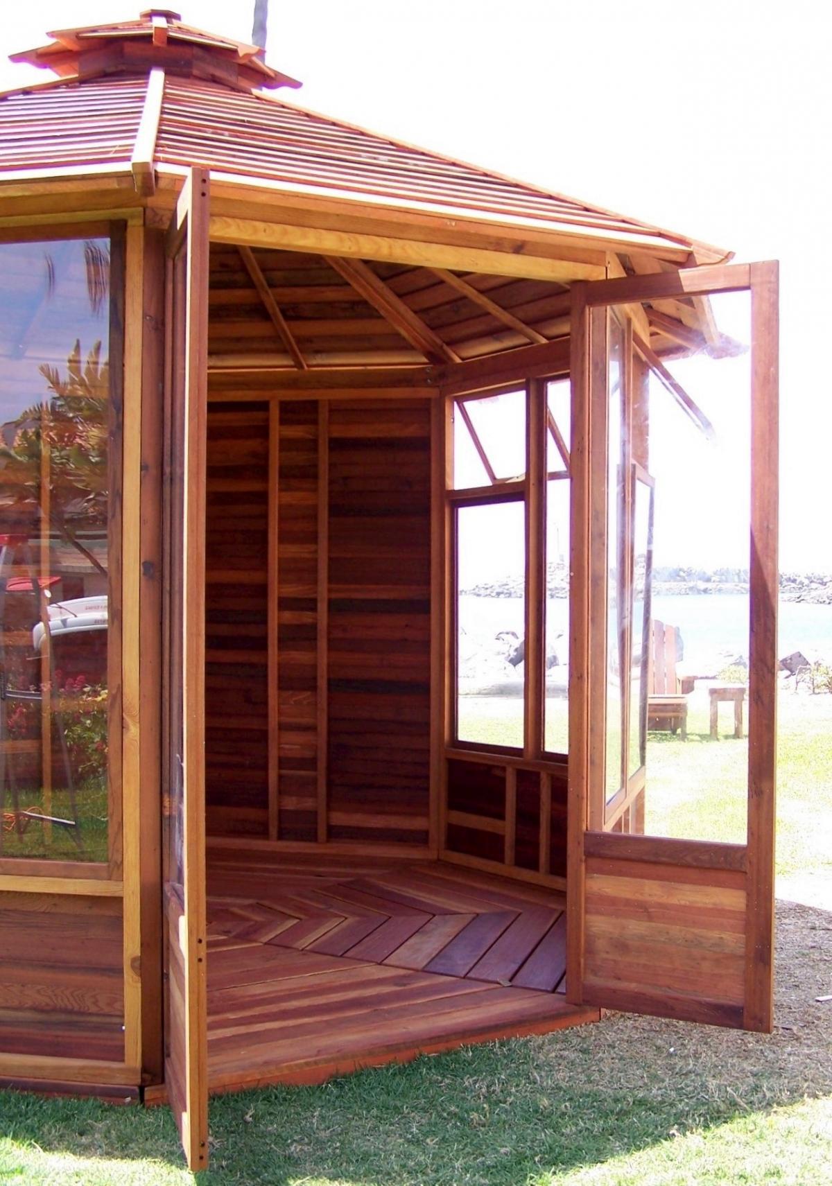 Octagonal Gazebo: Sunroom Wood Gazebo Kit for Sale