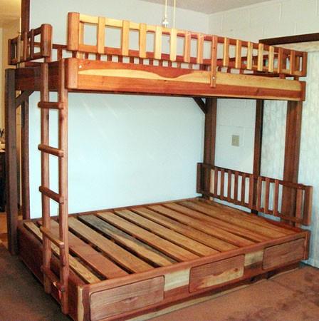 Wooden Bunk Beds Forever Redwood