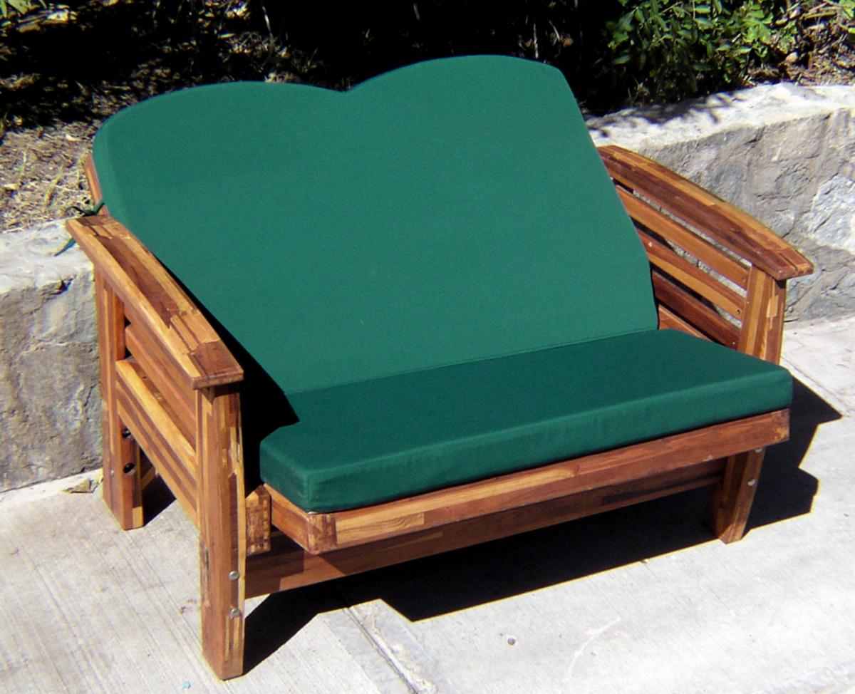 Reclining Redwood Loveseat, Custom Outdoor Wood Recliners