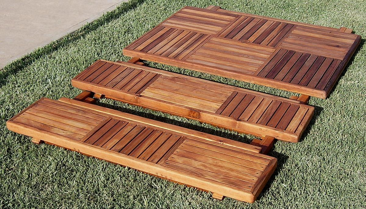 Rectangular Folding Picnic Table (Options: ...