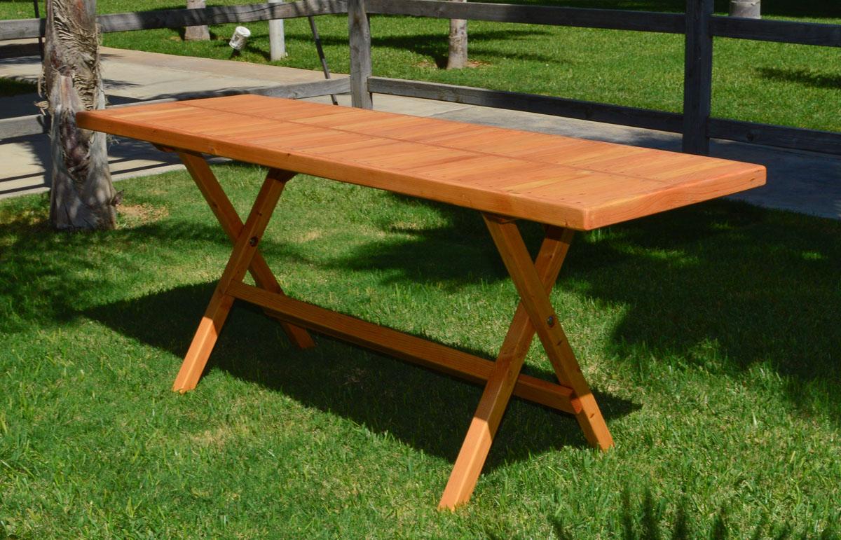 Rectangular Folding Picnic Table Options 72 L 24 W